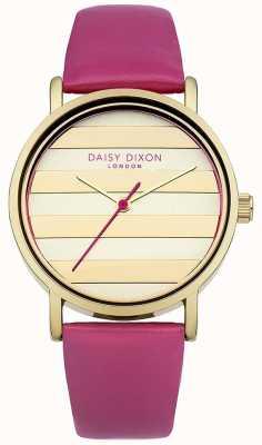 Daisy Dixon Damski skórzany pasek ze złotym makiem DD009PG