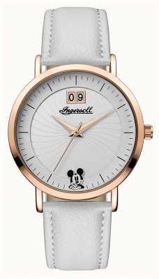 Disney By Ingersoll Uniwersalny damski skórzany pasek disney w kolorze srebrnym ID00502