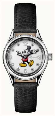 Disney By Ingersoll Damska czapka biała skórzana tarcza disney ID00902