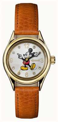 Disney By Ingersoll Damski łącznik z brązowym skórzanym paskiem w stylu disney ID00901