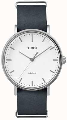 Timex Unisex weekend fairfield biała tarcza TW2P91300