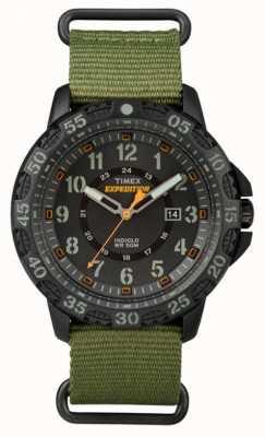 Timex Męski pasek z czarnej tkaniny na rzep TW4B03600