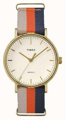 Timex Unisex weekender fairfax pomarańczowo-brązowy pasek TW2P91600