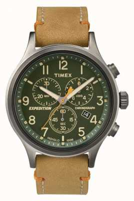 Timex Męski chronograf z zieloną tarczą TW4B04400