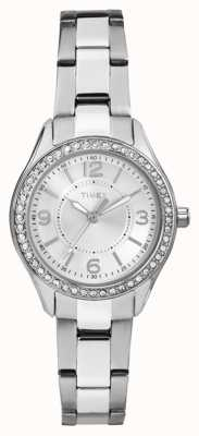 Timex Womans miami mini srebrny pasek ze stali nierdzewnej srebrna tarcza TW2P79800
