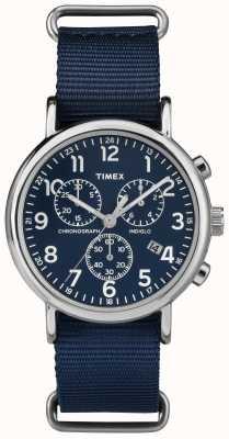 Timex Unisex chronograf weekendowy granatowy TW2P71300