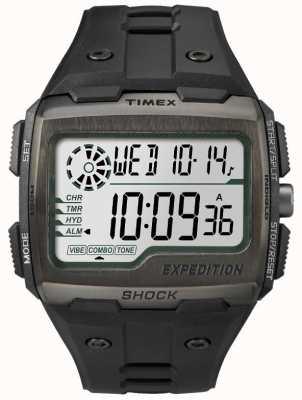 Timex Męski chronometr szoku chroni wszystkie czarne TW4B02500