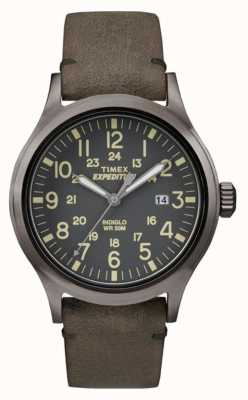 Timex Męski skórzany pasek z czarnym wykrojem TW4B01700