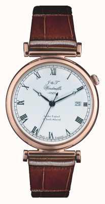 J&T Windmills Męski zegarek z różowego złota z bartłomieja mechanicznego WGS50001/01