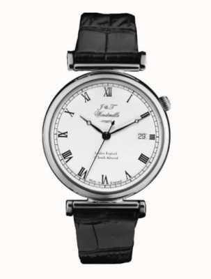 J&T Windmills Męski bartholomowy mechaniczny zegarek ze srebra wysokiej próby WGS10000/08