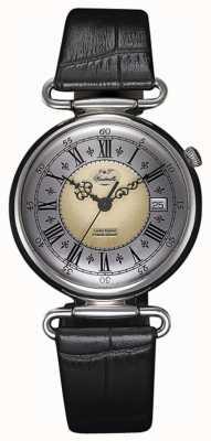 J&T Windmills Męski mechaniczny srebrny zegarek throgmorton WGS10002/50