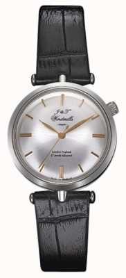 J&T Windmills Womans threadneedle mechaniczny zegarek srebrne różowe złoto WLS10001/06