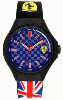 Scuderia Ferrari Męski pit crew bandery Unii gumowy pasek niebieska tarcza 0830351
