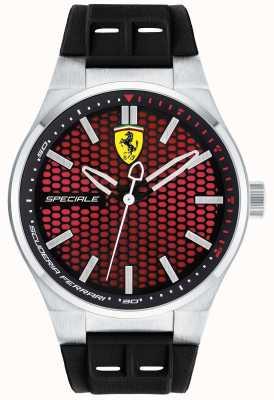 Scuderia Ferrari Męski czarny pasek z czarnym gumowym paskiem 0830353