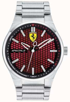 Scuderia Ferrari Specjalna bransoleta ze stali nierdzewnej z czerwoną tarczą 0830357