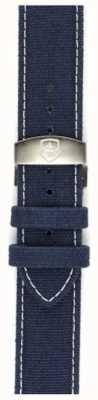 Elliot Brown Męski, obszyty 22mm, niebieski pasek z wytrzymałego płótna STR-C01