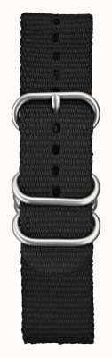 Elliot Brown Męskie 22mm czarne nylonowe elementy balistyczne STR-N03