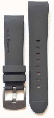 Elliot Brown Męska 22mm szara gumowa stalowa klamra na języku STR-R02