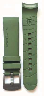 Elliot Brown Męski pasek z gumy z brązu o grubości tylko 22 mm STR-R04