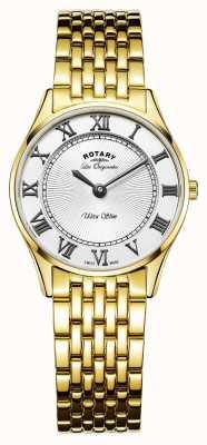 Rotary Womens les originales ultra cienka biała tarcza LB90803/01