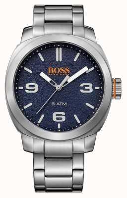 Hugo Boss Orange Mens cape town bransoleta ze stali nierdzewnej niebieska tarcza 1513419