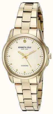 Kenneth Cole Damska tarcza ze stali nierdzewnej ze srebra w kolorze złotym KC10026480