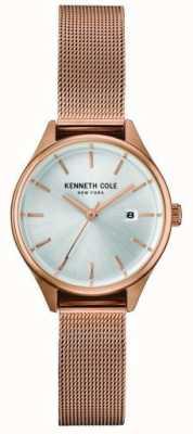 Kenneth Cole Damska różowa tona ze stali nierdzewnej ze srebrną tarczą KC10030842