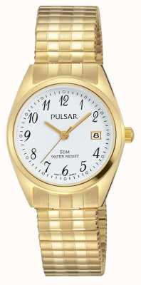 Pulsar Tone złoty biały ze stali nierdzewnej tarcza PH7444X1