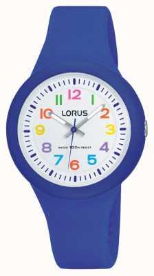 Lorus Unisex niebieska gumowa taśma biała tarcza RRX45EX9