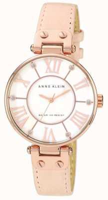 Anne Klein Damski różowy skórzany pasek wybierania kremowego 10/N9918RGLP