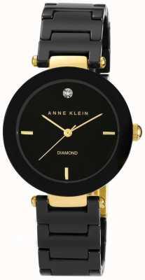 Anne Klein Damski czarny, ceramiczny pasek z czarną tarczą AK/N1018BKBK