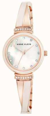 Anne Klein Damska bransoleta z różowego złota, z masy perłowej AK/N2216BLRG