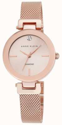 Anne Klein Damska różowa tarcza z różowego złota AK/N2472RGRG