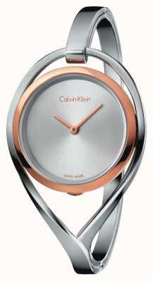 Calvin Klein Damska lekka mała bransoleta ze stali nierdzewnej, różowo-złoty K6L2SB16