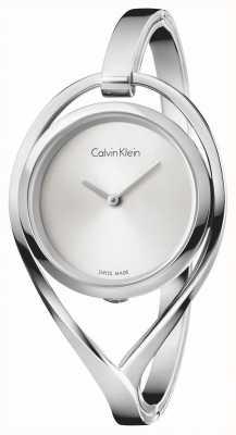 Calvin Klein Damska lekka mała bransoleta ze srebra ze stali nierdzewnej K6L2S116