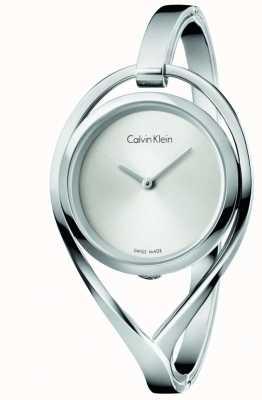 Calvin Klein Damska lekka, srebrna tarcza ze stali nierdzewnej K6L2M116
