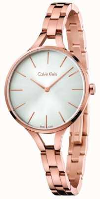 Calvin Klein Damska grafika z grafiką na różowo złote bransoletki ze srebra K7E23646