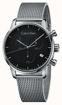 Calvin Klein Chronograf męski miejski ze stali nierdzewnej czarna tarcza K2G27121