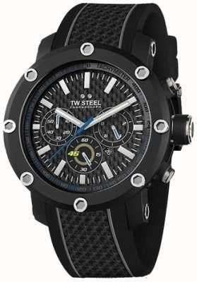 TW Steel Męski czarny pasek z czarnej gumy chronografu TW937