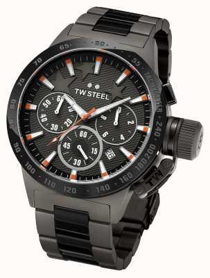 TW Steel Męski ciemny ciemny tytanowy czarny chronograf TW313