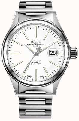 Ball Watch Company Mężczyzna strażak przedsiębiorstwo auto bransoleta ze stali nierdzewnej NM2188C-S5J-WH