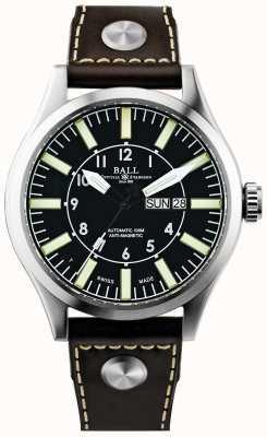 Ball Watch Company Mężczyzna inżynier mistrz ii firma lotnik automatyczna skóra NM1080C-L3-BK