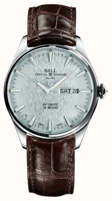 Ball Watch Company Trainmaster eternity automatyczny pasek ze stójką srebrna tarcza NM2080D-LJ-SL