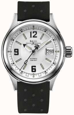 Ball Watch Company Strażak wyścigowy automatyczny pasek gumowy biała tarcza NM2088C-P2J-WHBK