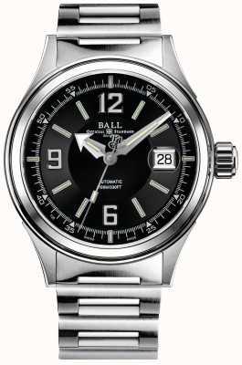 Ball Watch Company Strażak automatyczna bransoletka ze stali nierdzewnej czarna tarcza NM2088C-S2J-BKWH