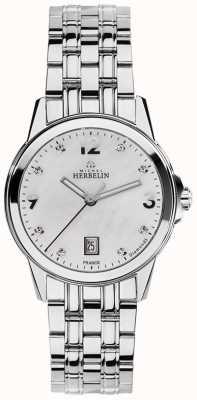 Michel Herbelin Womans ze stali nierdzewnej miasto z masy perłowej diament wybierania 14250/B89