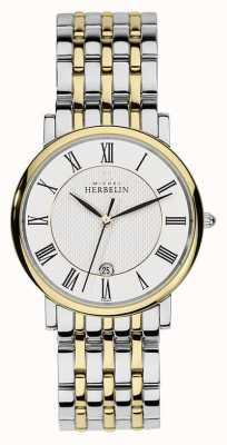 Michel Herbelin Męski, dwukolorowy srebrny pasek ze srebra wysokiej jakości 12543/BT01