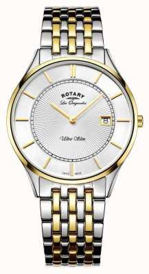 Rotary Męska dwubarwna bransoletka wyjątkowo cienka GB90801/02