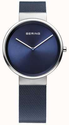 Bering Unisex, stalowy, stalowy pasek z metalową siatką 14531-307