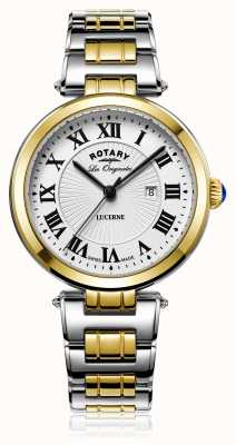 Rotary Womans lucerne dwutonowe srebrne złoto LB90188/01/L